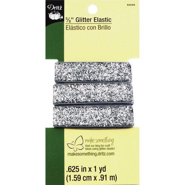 """Glitter Elastic 5/8""""X1yd"""