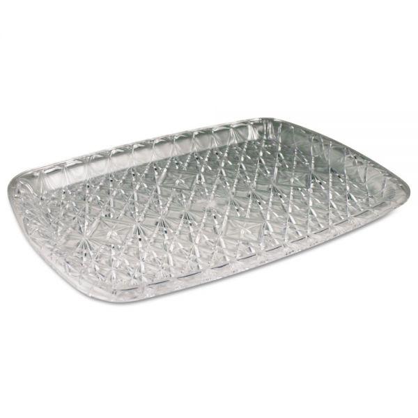 Maryland Plastics Inc. Crystal Cut Plastic Serving Trays