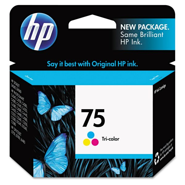 HP 75, (CB337WN) Tri-color Original Ink Cartridge
