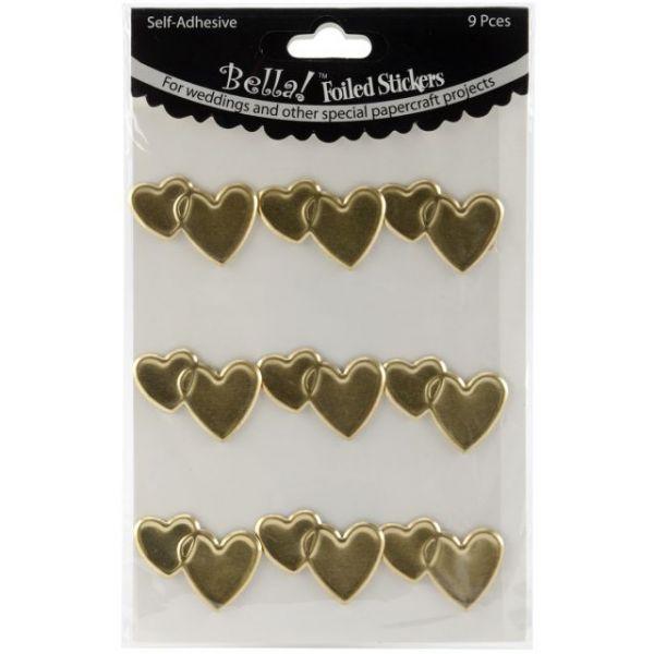 Bella! Wedding Hearts Foil Stickers 9/Pkg