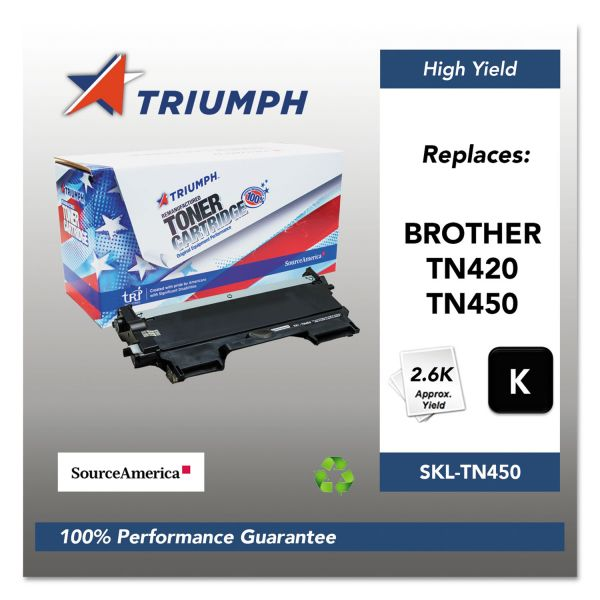 Triumph 751000NSH1072 Remanufactured TN450 High-Yield Toner, Black