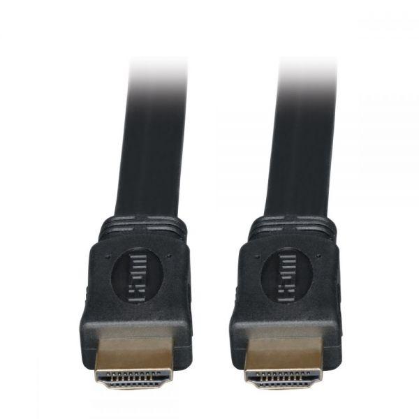 Tripp Lite High Speed HDMI Flat Cable Ultra HD 4K x 2K Digital Video with Audio (M/M) Black 3ft