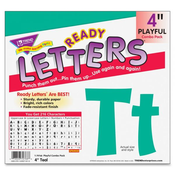 Trend Playful Uppercase/Lowercase Ready Letters