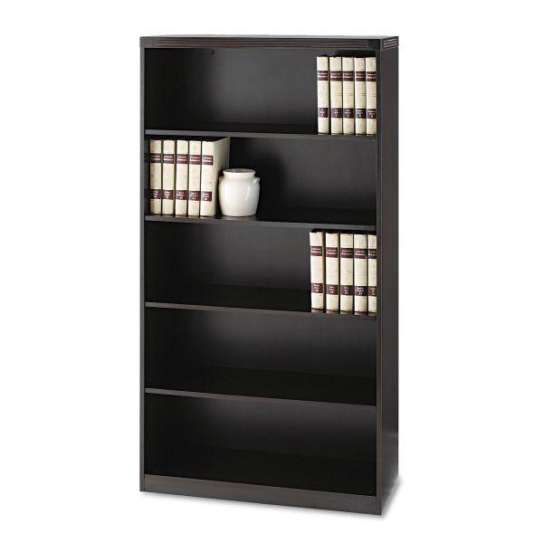 Mayline Aberdeen Series Five-Shelf Bookcase, 36w x 15d x 68-3/4h, Mocha