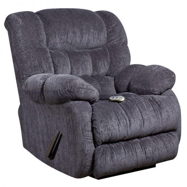 Flash Furniture Massaging Columbia Indigo Blue Microfiber Rocker Recliner with Heat Control
