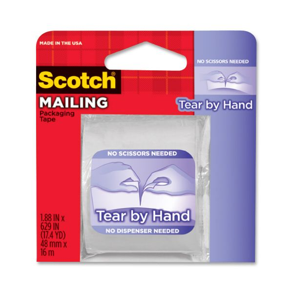"""Scotch Tear By Hand 2"""" Packing Tape"""