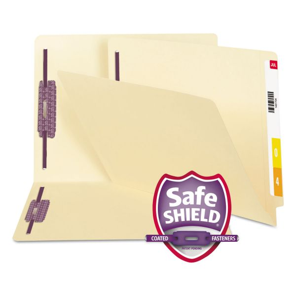 Smead Manila End Tab File Folders with SafeSHIELD Fasteners