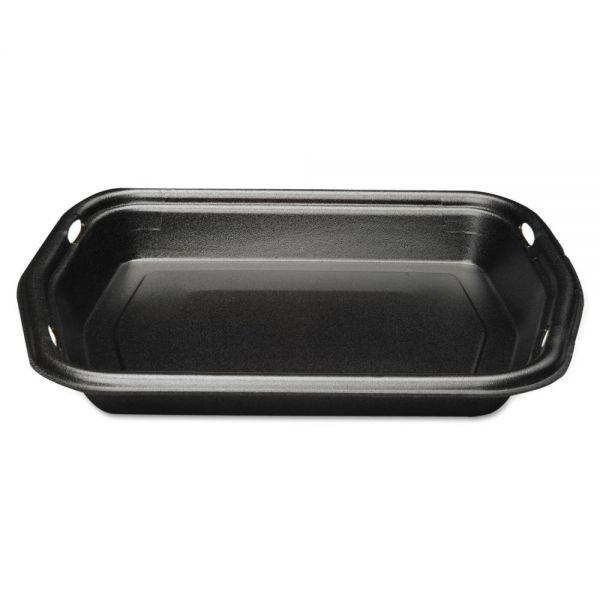 Genpak Large Serving Tray, Foam, Black, 10 1/5 x 8 7/8 x 1 1/4, 125/Bag, 2 Bags/Carton