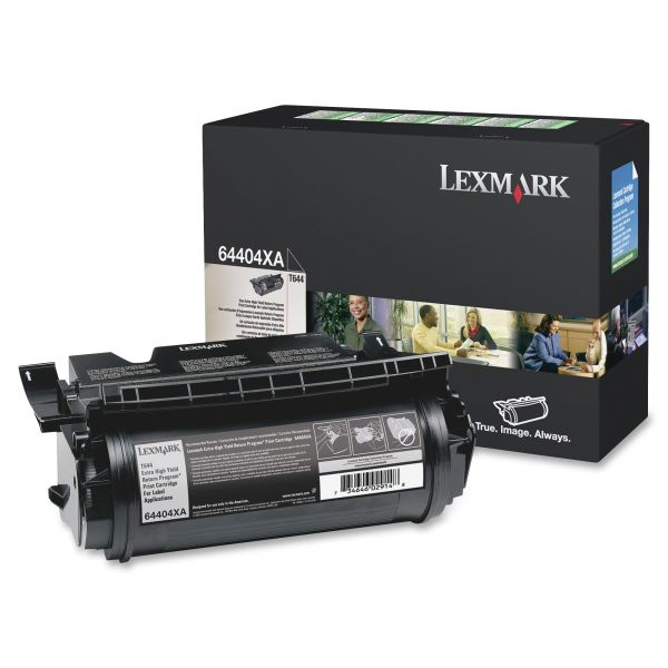 Lexmark T644 Black Extra High Yield Return Program Toner Cartridge (64404XA)