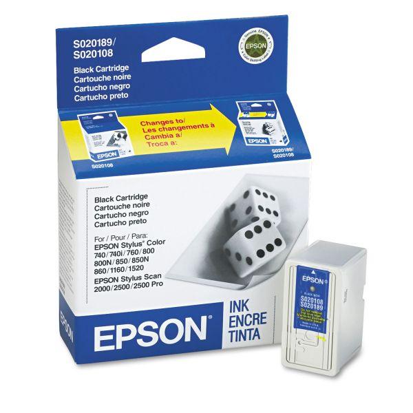 Epson S189108 Black Ink Cartridge