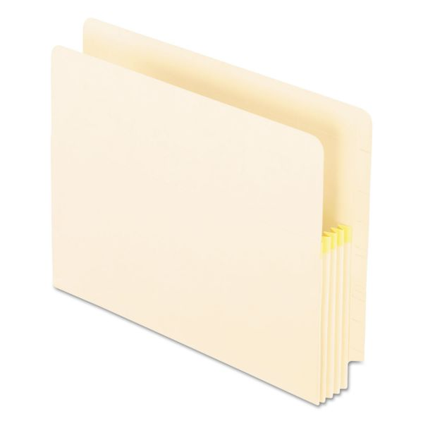 Pendaflex Convertible File, Straight Cut, 3 1/2 Inch Expansion, Letter, Manila, 25/Box