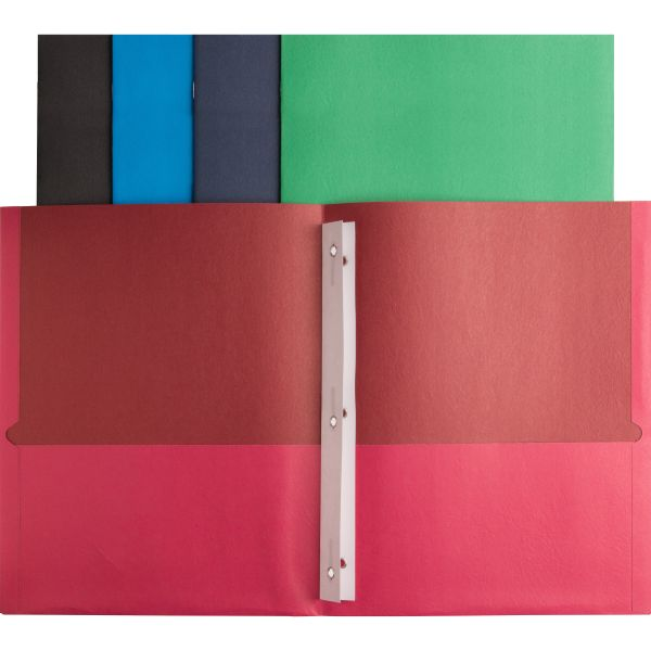 Business Source Two Pocket Folders with Fasteners
