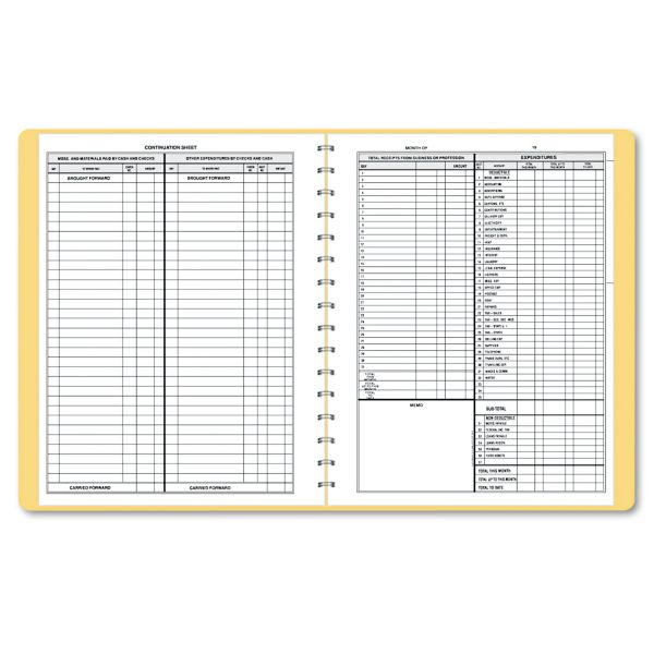 Dome Simplified Monthly Bookkeeping Record, Tan Vinyl Cover, 128 Pages, 8 1/2 x 11