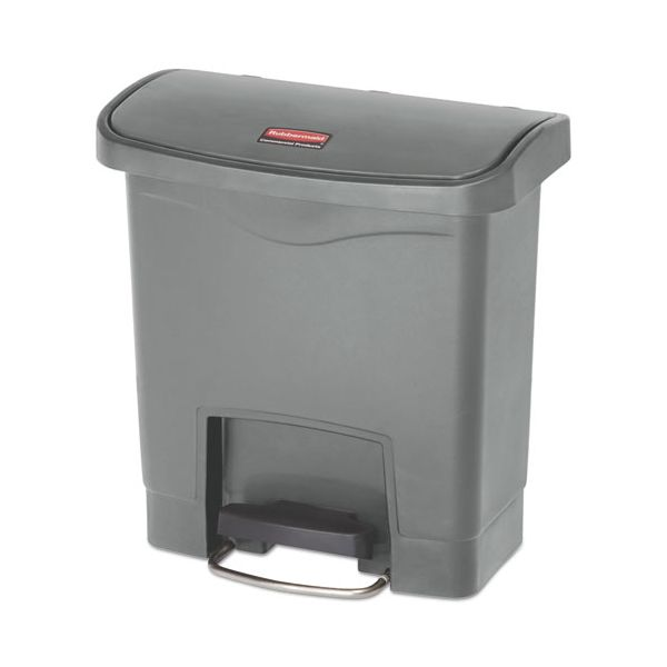 Rubbermaid Slim Jim Resin Step-On 4 Gallon Trash Can
