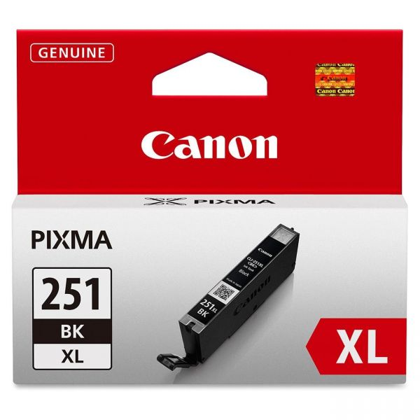 Canon CLI-251XLBK Black High Yield Ink Cartridge (6448B001)