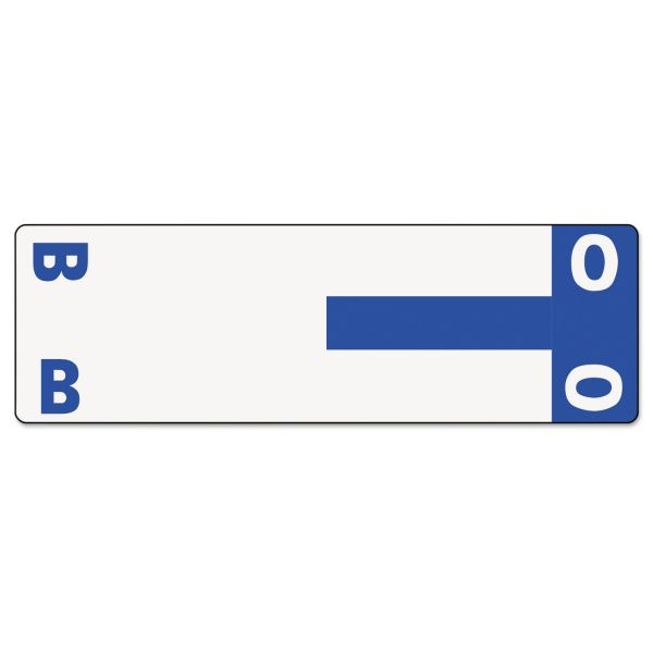 Smead AlphaZ NCC Color-Coded Name Label - B & O