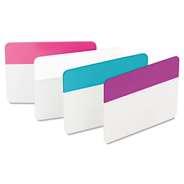Post-it Tabs File Tabs, 2 x 1 1/2, Assorted Pastel, 24/Pack