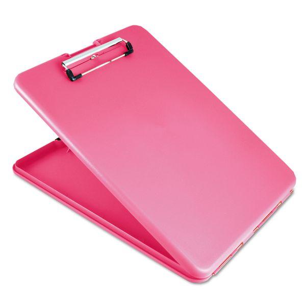 Saunders SlimMate Portable Desktop Pink Storage Clipboard