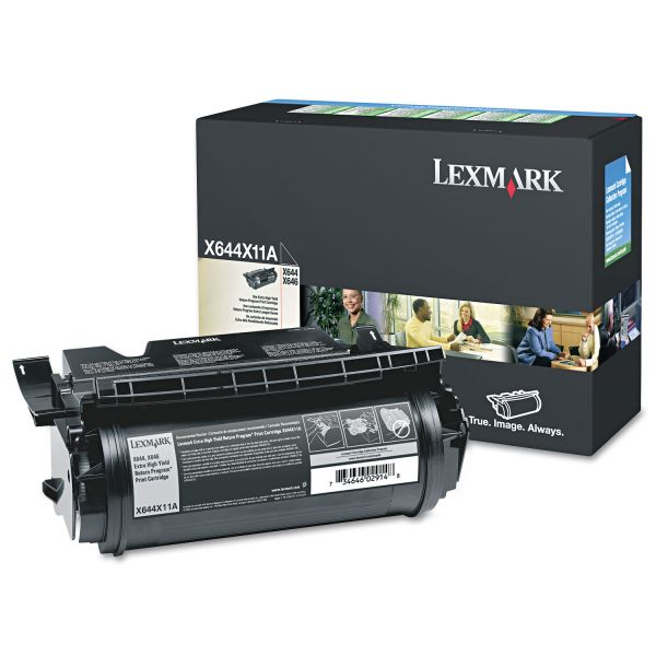 Lexmark X644X11A Black Extra High Yield Return Program Toner Cartridge