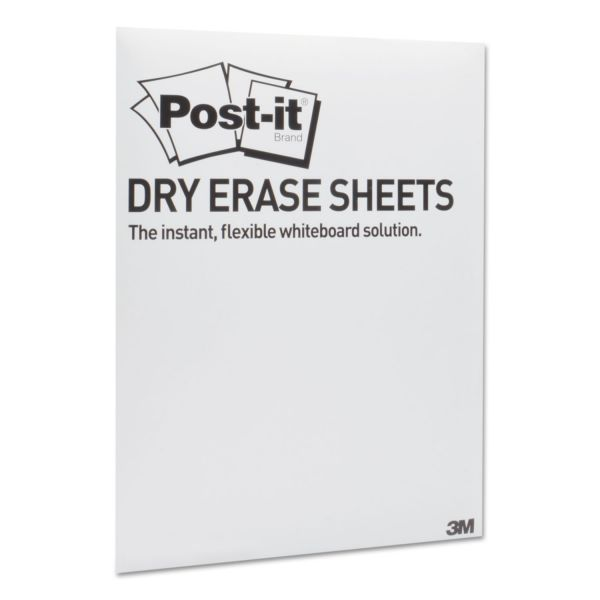 Post-it Dry Erase Surfaces with Adhesive Backings