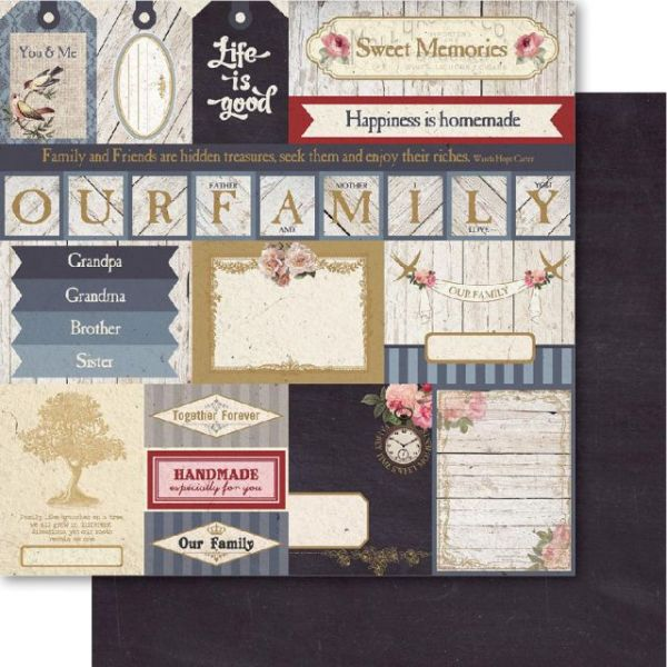 Family Double-Sided Cardstock