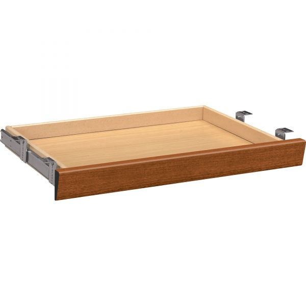 HON Laminate Angled Center Drawer, 26w x 15 3/8d x 2 1/2h, Bourbon Cherry