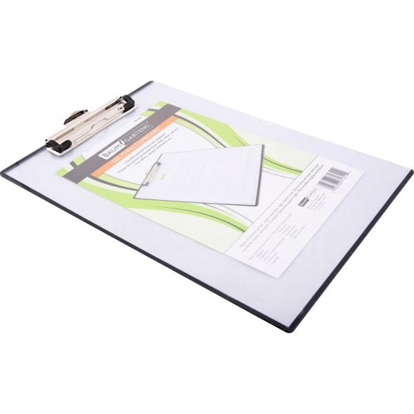 """Mobile OPS Quick Reference Clipboard, 1/2"""" Capacity, 8 1/2 x 11, Clear"""
