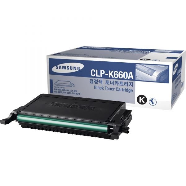 Samsung CLP-K660A Black Toner Cartridge