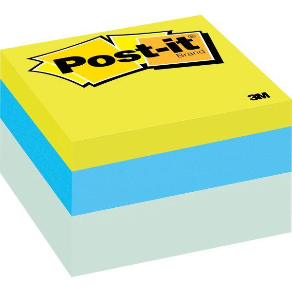 Post-it Notes Original Cubes, 3 x 3, Blue Wave, 470-Sheet