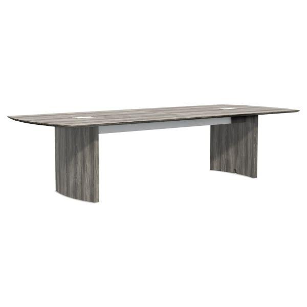 Mayline Medina Conference Tables, Boat, 120 x 48, Gray Steel
