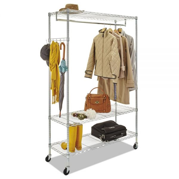 Grid Coat Rack In Office Accessories: Alera Wire Shelving Garment Rack, 40 Garments, 48 X 18 X