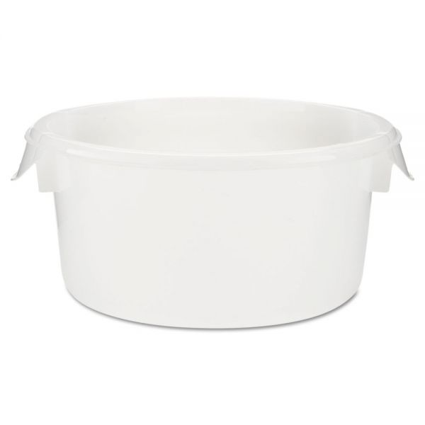 "Rubbermaid Commercial Round Storage Containers, 2qt, 8 1/2""Dia x 4""H, White"