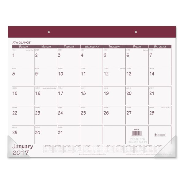 At-A-Glance Fashion Monthly Desk Pad Calendar