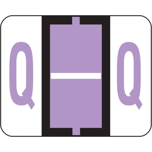 Smead BCCR Bar-Style Color-Coded Alphabetic Label - Q