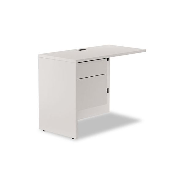 "Genoa Series ""L"" Workstation Left Return, Gray, 40 x 20"