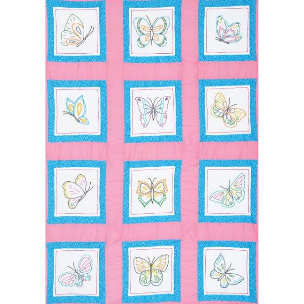 "Themed Stamped White Quilt Blocks 9""X9"" 12/Pkg"