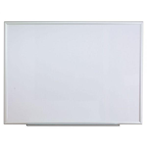 Universal Dry Erase Board, Melamine, 48 x 36, Aluminum Frame