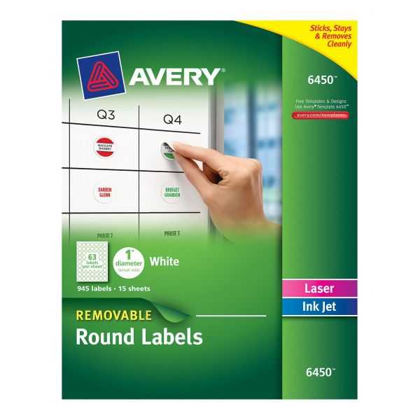 Avery Removable Round Labels