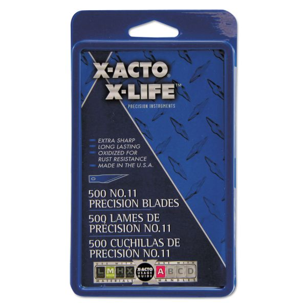 X-ACTO No. 11 Bulk Pack Blades for X-Acto Knives, 500/Box