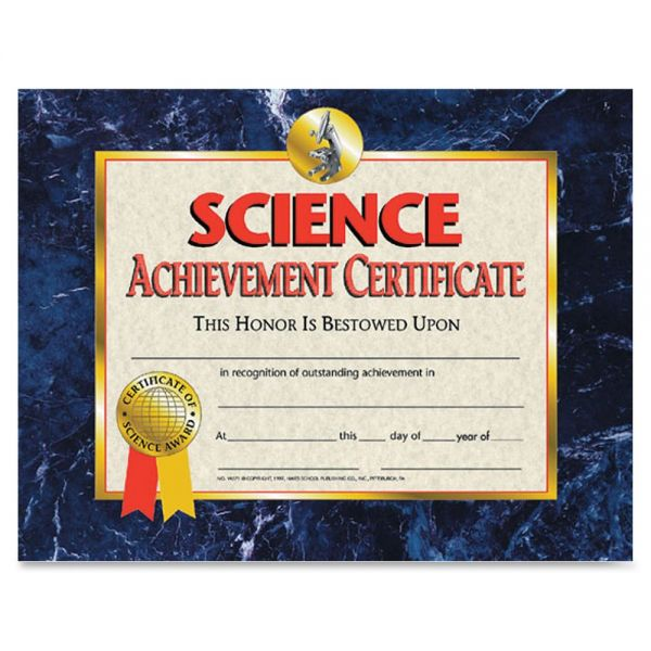 Flipside Science Achievement Certificates