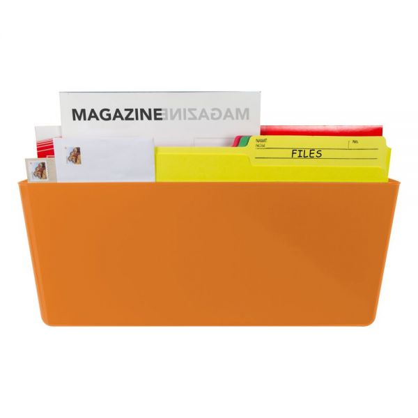 Storex Magnetic Wall Pocket, Legal, Orange (Case of 6)
