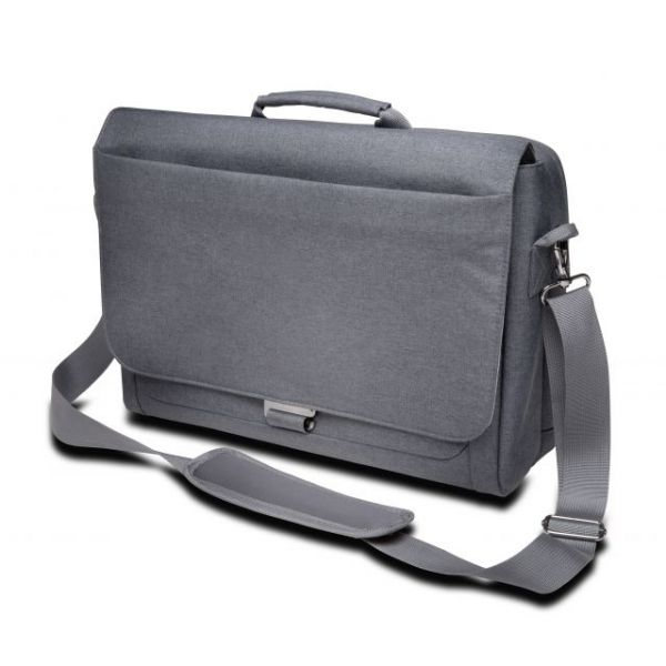 "Kensington K62623WW Carrying Case (Messenger) for 14.4"" Notebook, Tablet, Accessories, Ultrabook, Smartphone - Cool Gray"