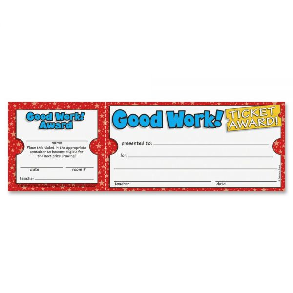 Scholastic Good Work Ticket Awards