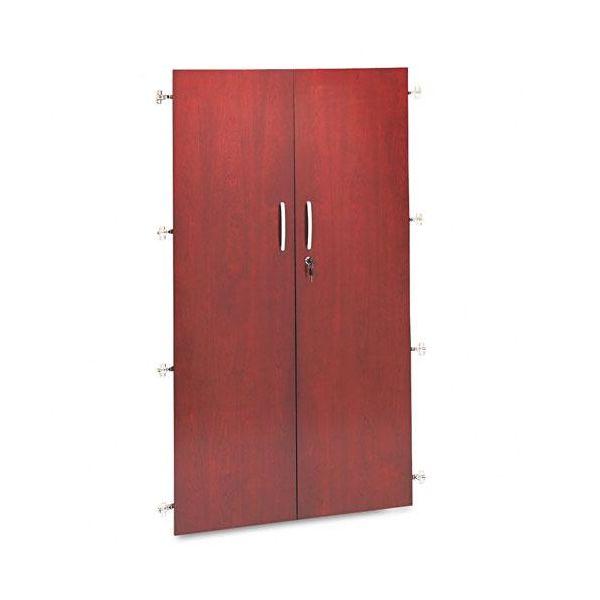 "Tiffany Industries Wall Storage Hutch Bookcase Cabinet Doors, 36"" x 68"", Sierra Cherry"