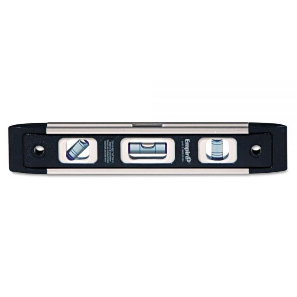 "Empire em81 Series True Blue Torpedo Level, 9"" Long, Aluminum, Tri-Vial"
