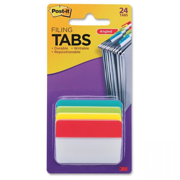 Post-it Durable Angled Filing Index Tabs