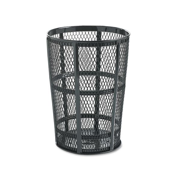 United Receptacle Street Basket 48 Gallon Trash Can
