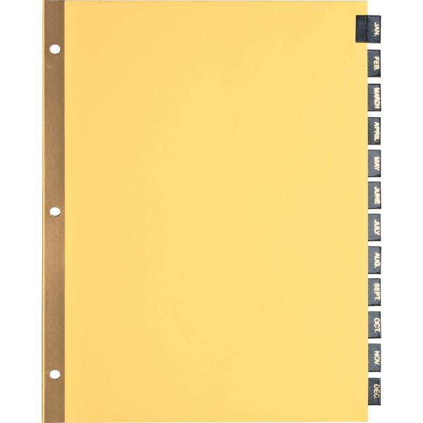 Sparco Leather Monthly Tab Index Dividers