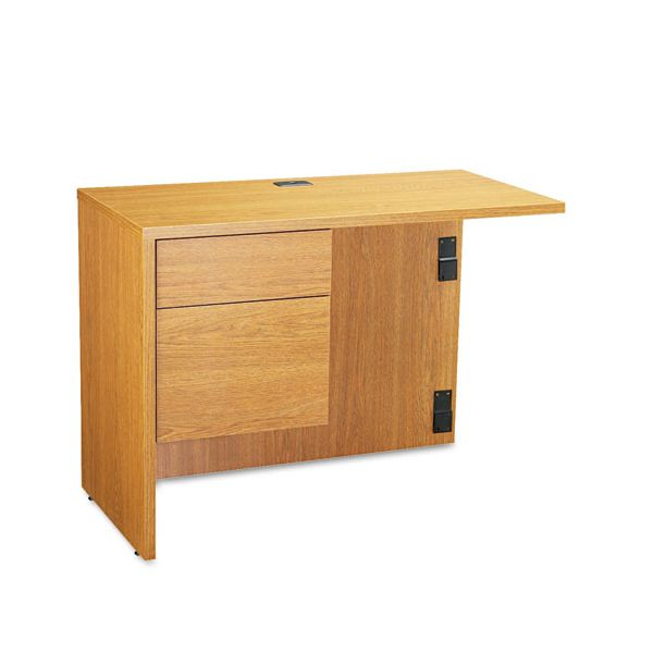 "Global Genoa ""L"" Workstation Return, Left, 40w x 20d x 29h, Oak"