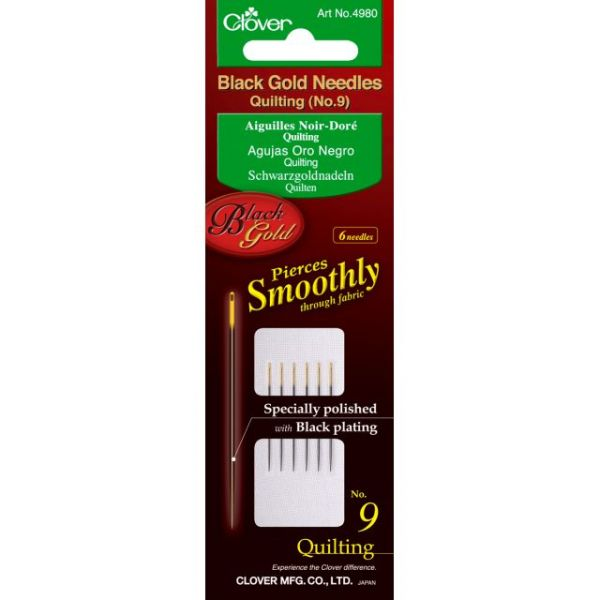 Clover Black Gold Quilting Needles